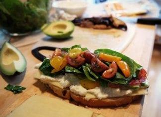 egészségesen elkészített szendvics