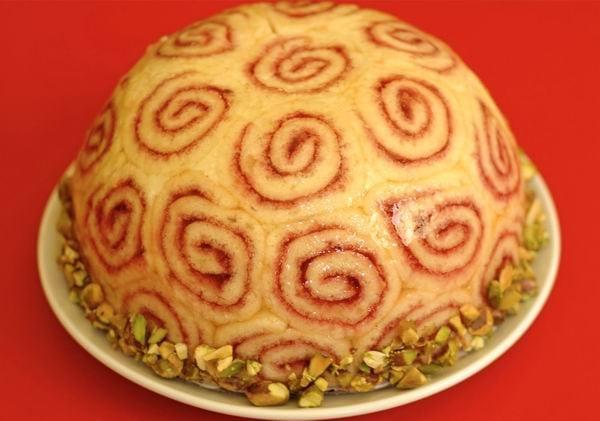 Charlotte torta málnával