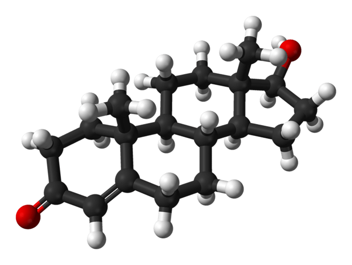 tesztoszteron molekulaszerkezete