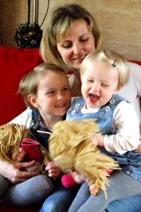 Kriszta Sárival és Lucával