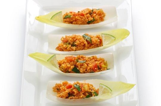 kisir, bulgur wheat salad, turkish cuisine, vegetarian food isol