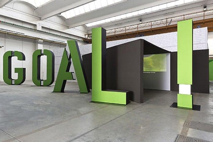 Gooól! Kiállítás előcsarnoka