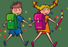 iskolatáskás gyerekek