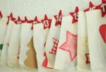 adventi naptár kis zsákokból