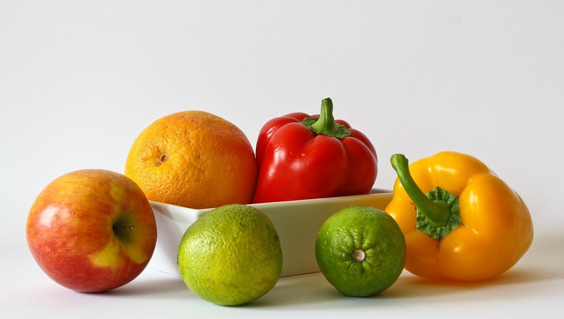 alma, paprika, narancs