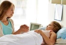 kórházban a gyerekkel