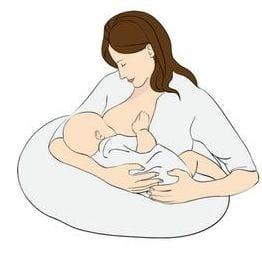 Ölelő szoptatási pozíció