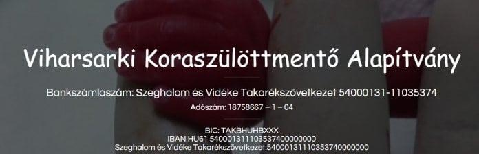 Viharsarki Koraszülöttmentő Alapítvány