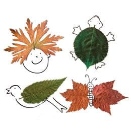 rajzok őszi falevéllel